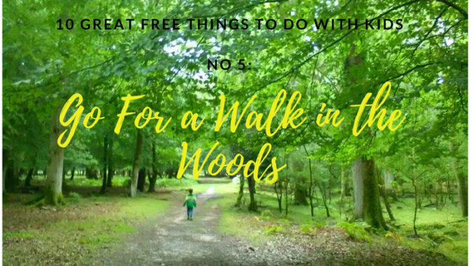 10 Great Free Things to Do with Kids - No 5- Go for a Walk in the Woods